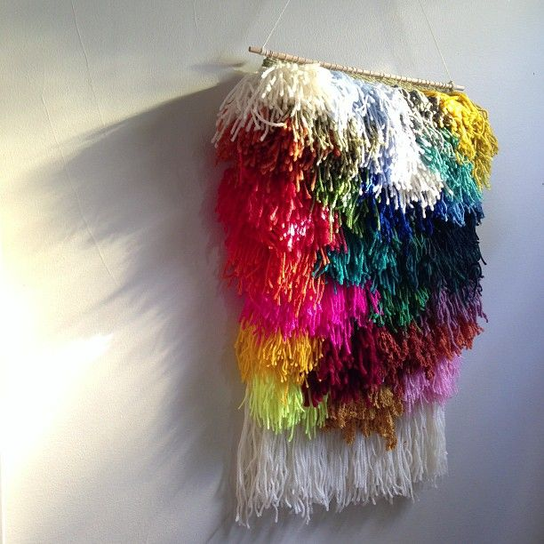DIY Yarn Wall Hanging | The Domestic Junkies